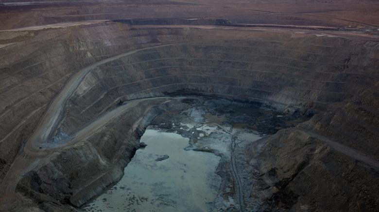 Open pit copper mines