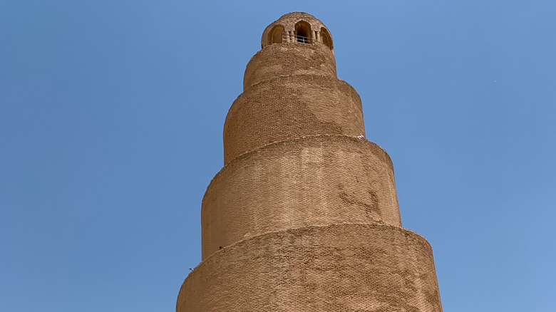 The surviving tower of the Great Mosque