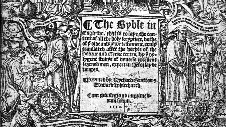 Title page, Thomas Cromwell's 'Great Bible'
