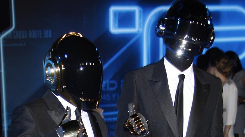 Daft Punk pose at event