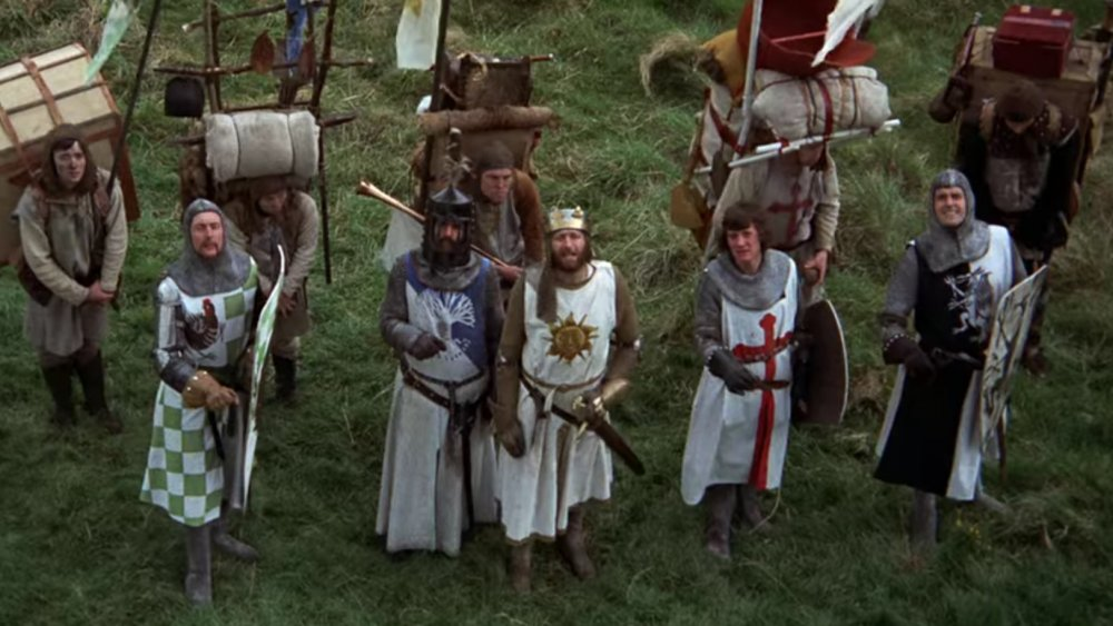The Monty Python troupe in Monty Python and the Holy Grail