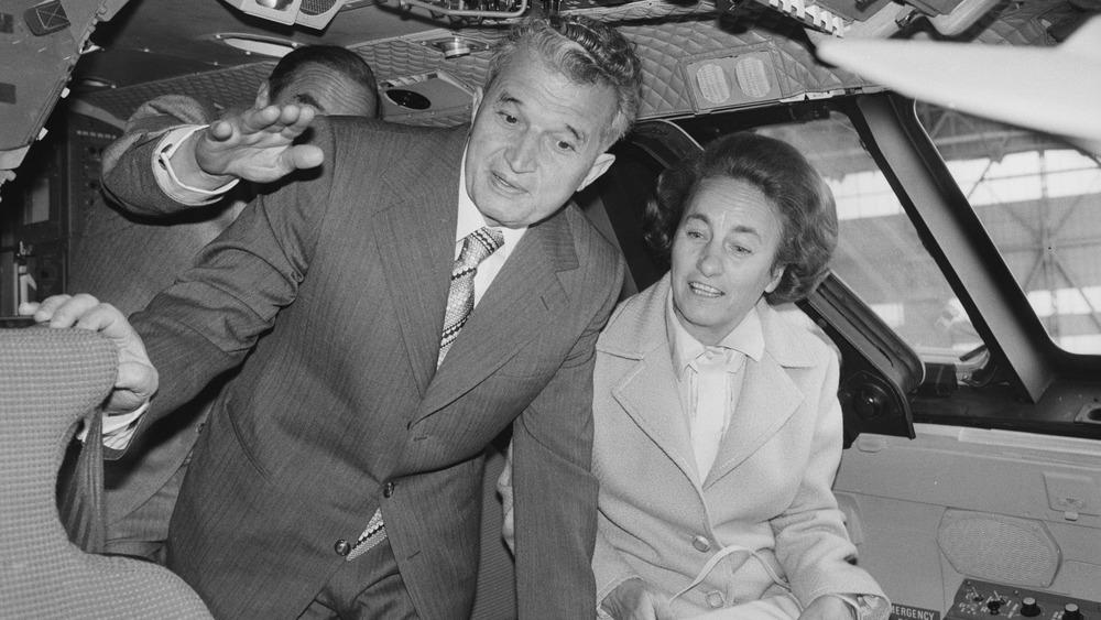 Nicolae Ceausescu and wife Elena