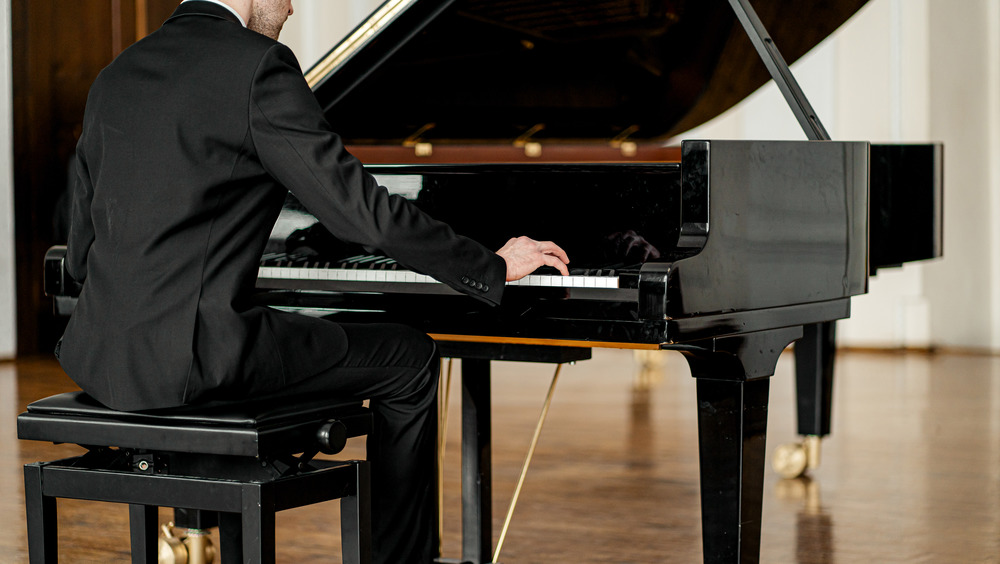 Piano and player