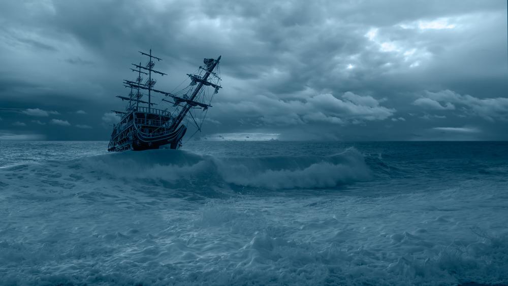 A derelict ghost ship