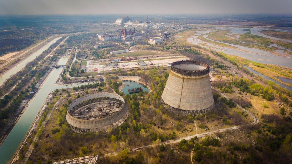 Aerial shot of Chernobyl