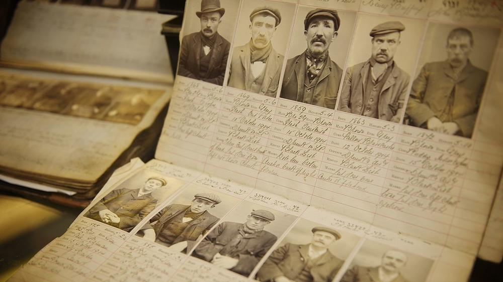 Mugshots of real Peaky Blinders