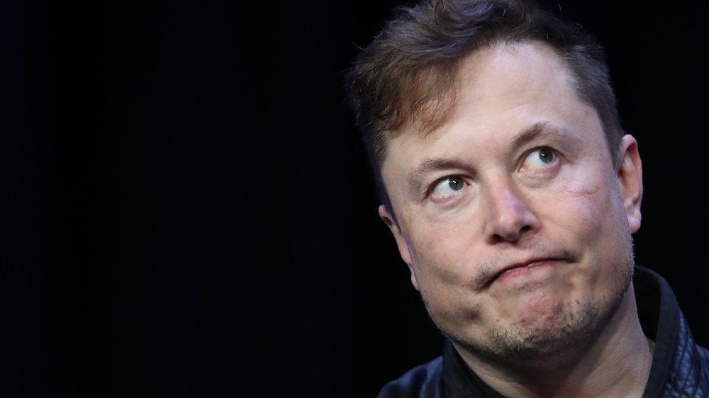 A photograph of Elon Musk.