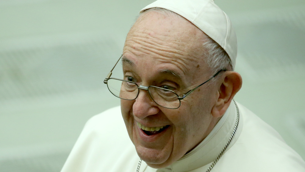 Pope Francis smiles