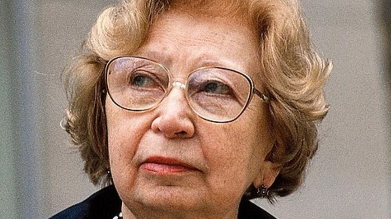 Miep Gies contemplative
