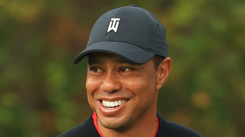 Tiger Woods on golf course