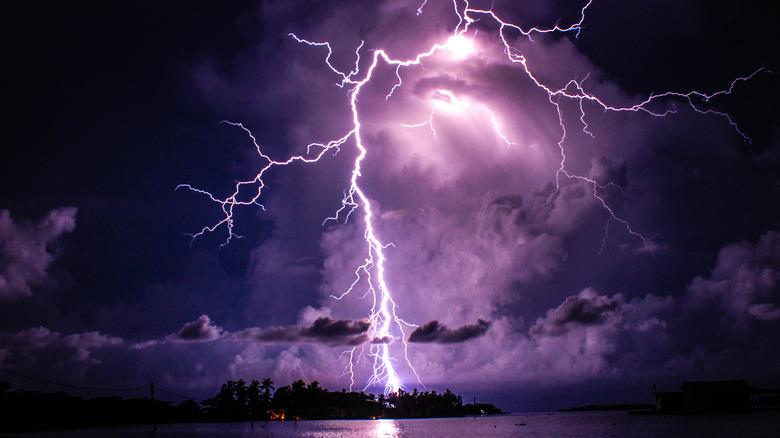 Lightning strike over Lake Maracaibo