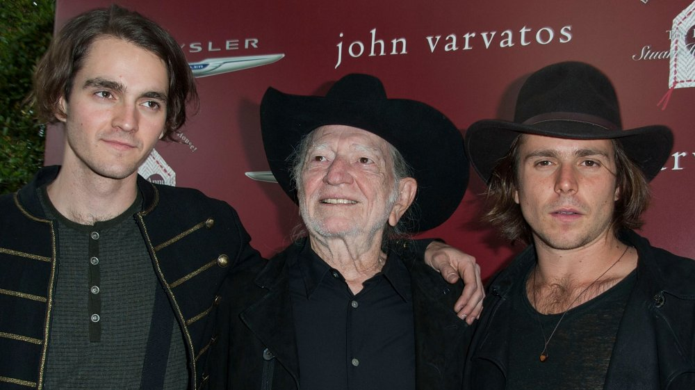 Willie Nelson and two of his sons