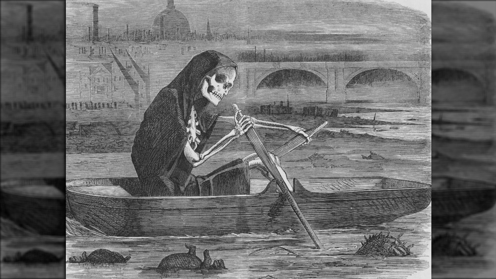 grim reaper on the thames illustration