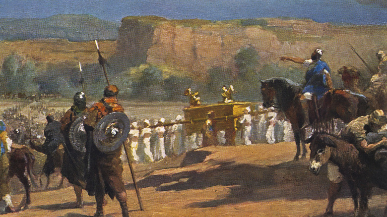 Painting Joshua and the battle of Jericho