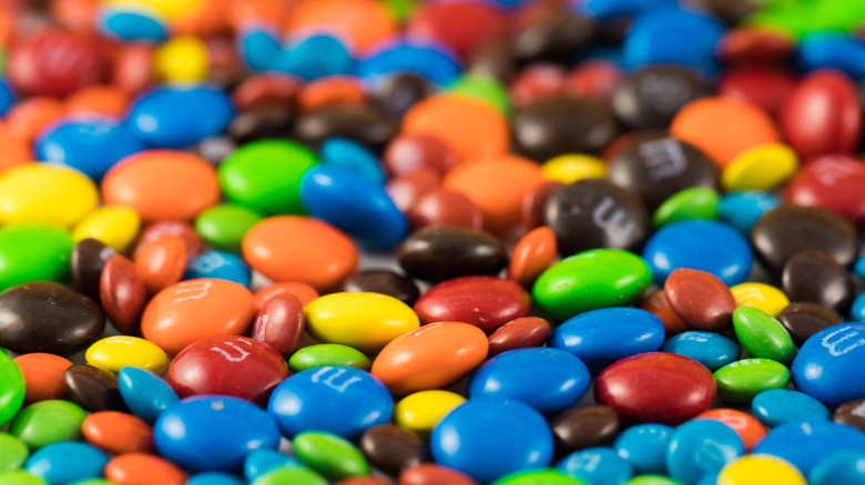 Chocolate M&Ms of all colors