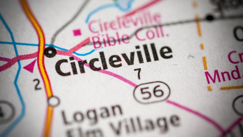 Circleville, Ohio, map