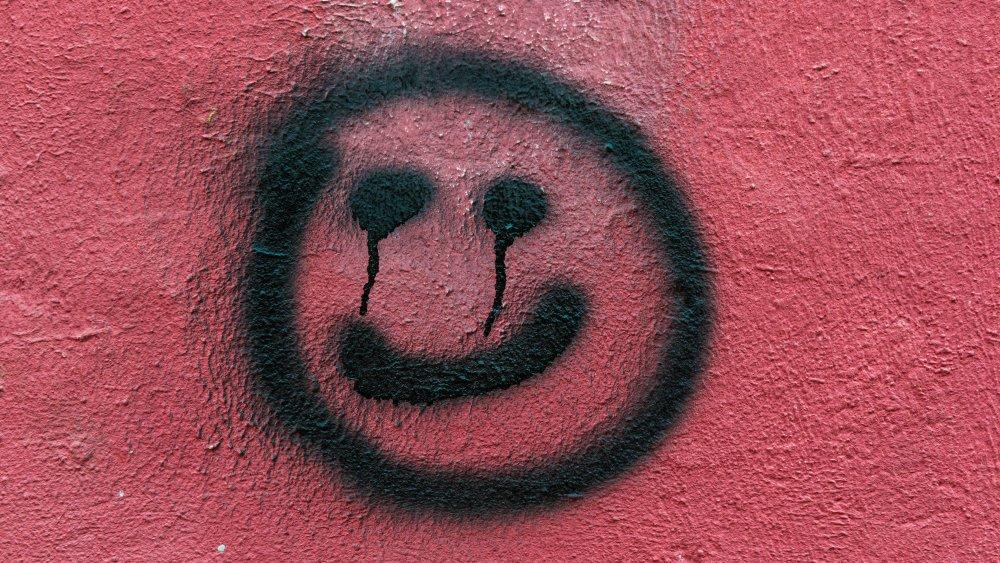 Smiley face graffiti