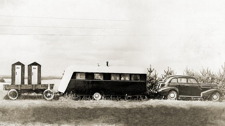 vintage RV trailer