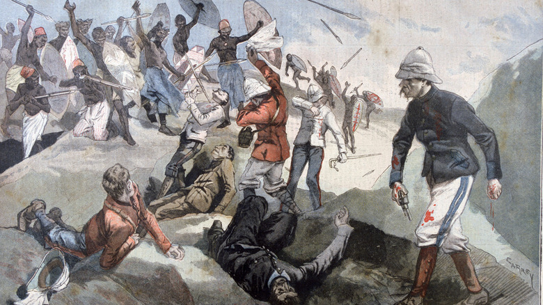 painting depicting Benin massacre