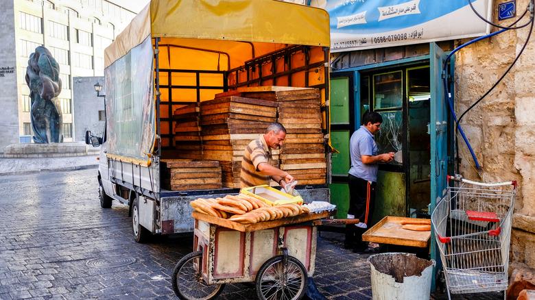 Bethlehem bread truck in alley