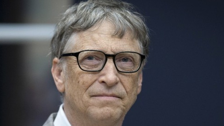 Bill Gates looking serious