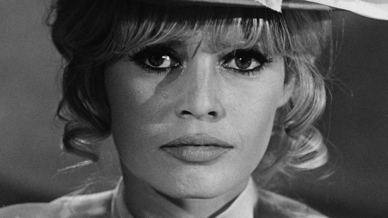 Brigitte Bardot looking at camera
