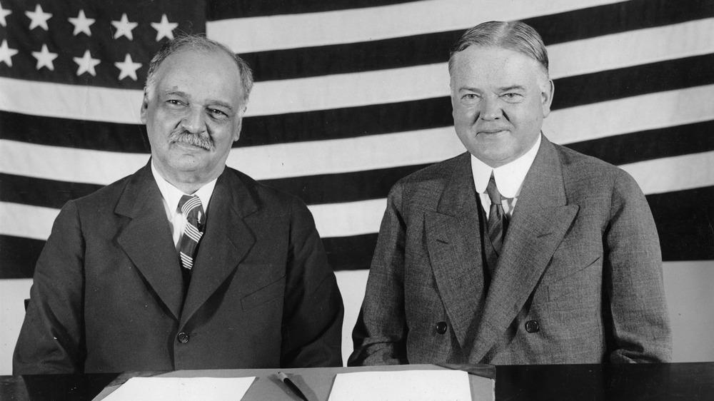 Vice President Charles Curtis and President Herbert Hoover