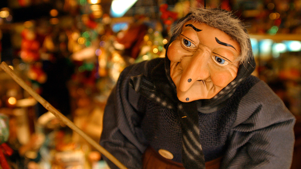 Puppet of Befana, Italy's Christmas witch