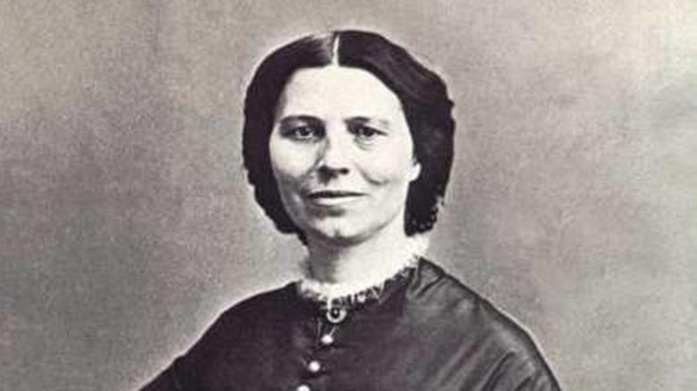 Cropped photo of Clara Barton c. 1865