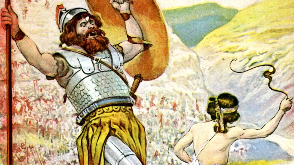 David (right) and Goliath