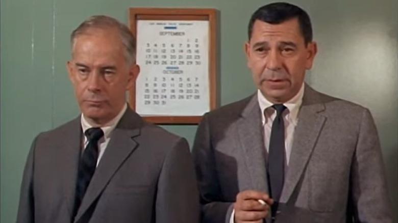 "Harry Morgan and Jack Webb in ""Dragnet 1967"""