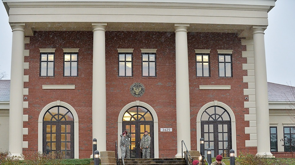 The military courthouse of Fort Bragg.