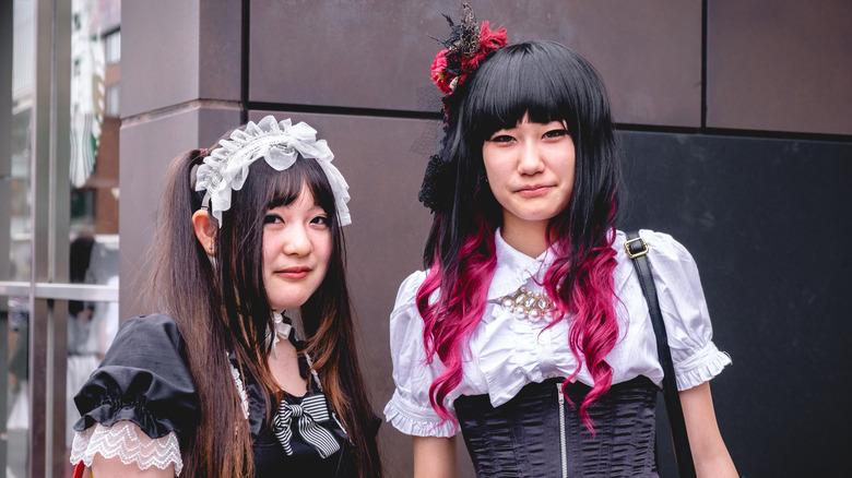 Gothic Lolita Harajuku girls