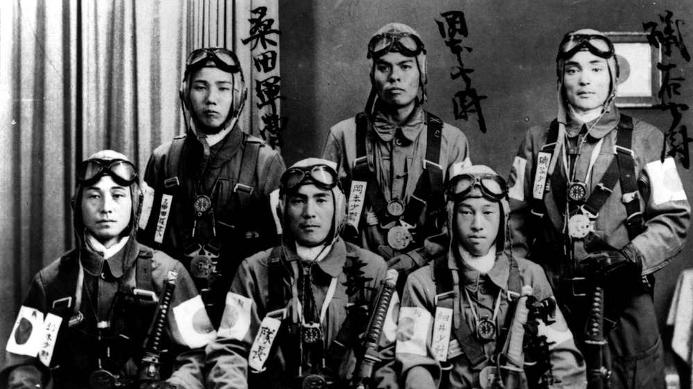 kamikaze pilots wearing gear