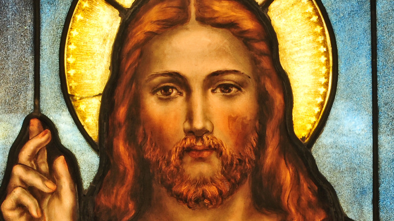 Jesus stained glass image