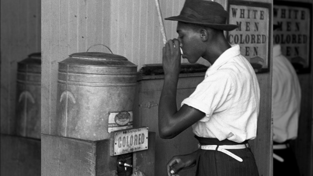 segregated drinking fountain