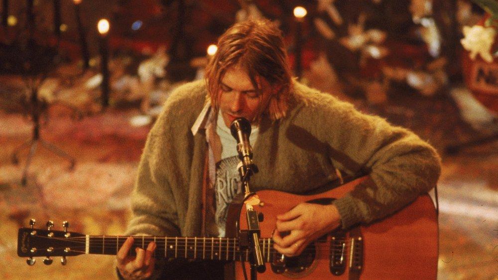 Kurt Cobain playing at MTV Unplugged