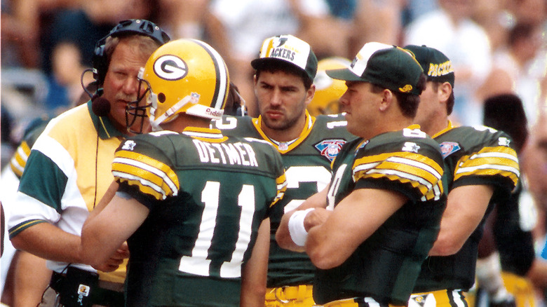 Kurt Warner with other Packers