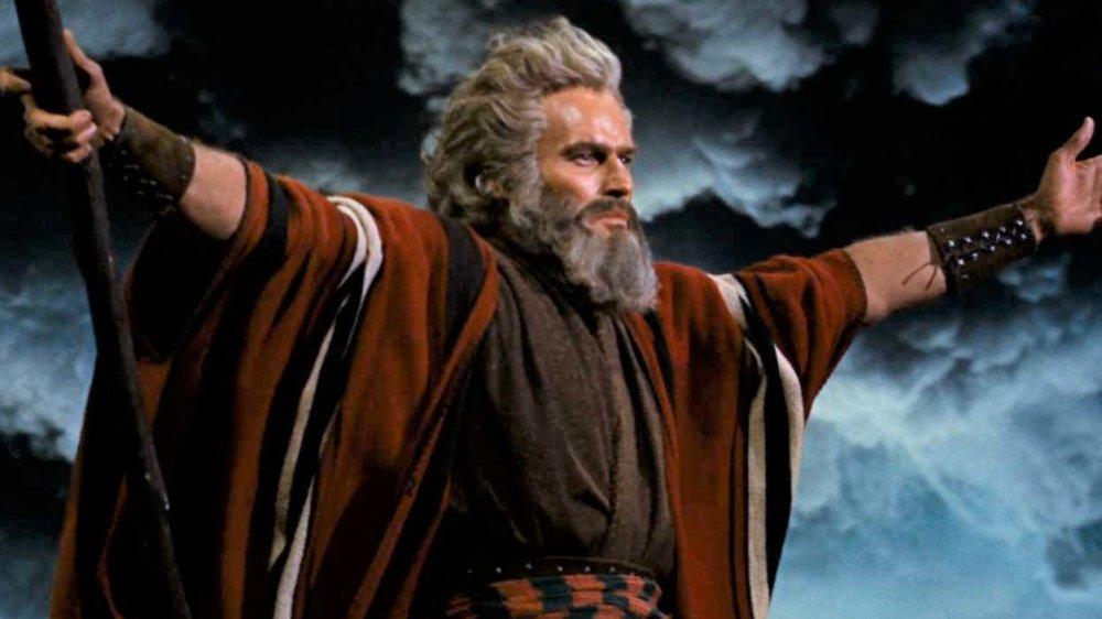 Charlton Heston in The Ten Commandments, Moses