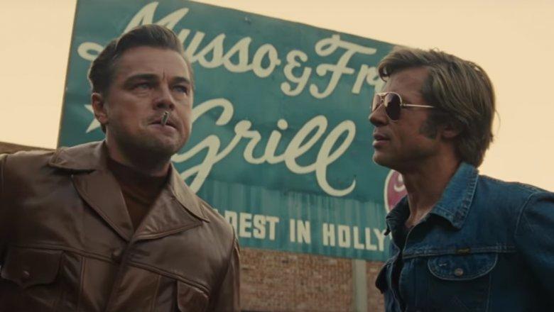 Leonardo DiCaprio and Brad Pitt as Rick Dalton and Cliff Booth