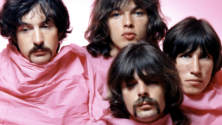 Pink Floyd wrapped in pink sheet