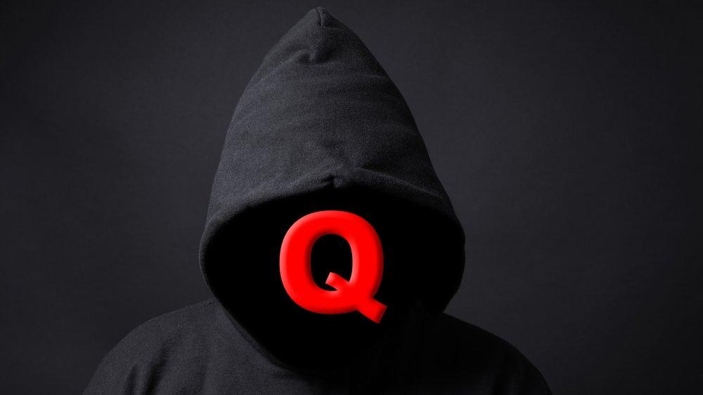 faceless QAnon supporter