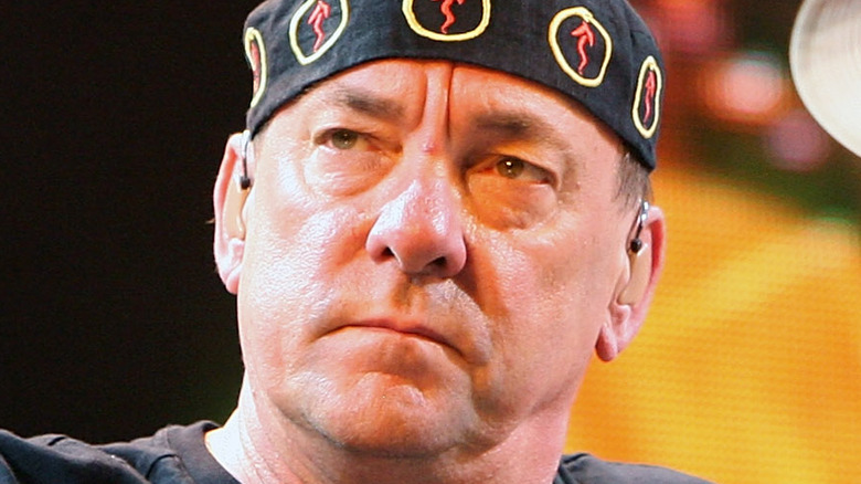 Neil Peart on stage