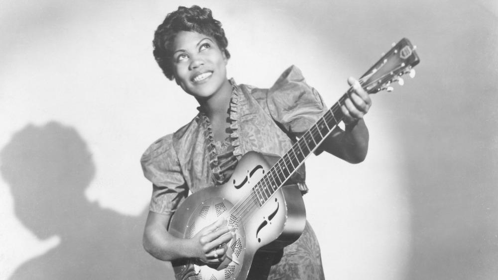 Sister Rosetta Tharpe with guitar