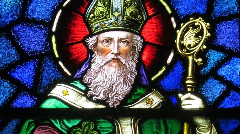 saint patrick catholic church stained glass