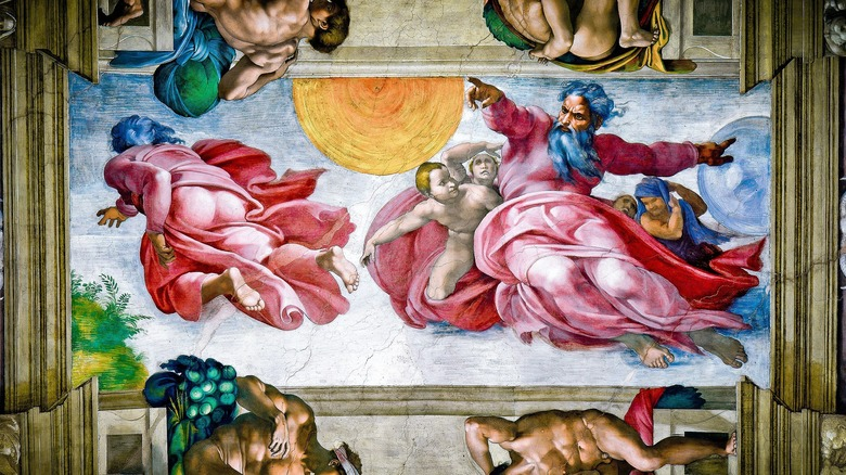 Creation of the Sun, Moon, and Planets, Michelangelo