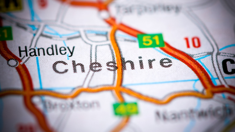 cheshire england on a map