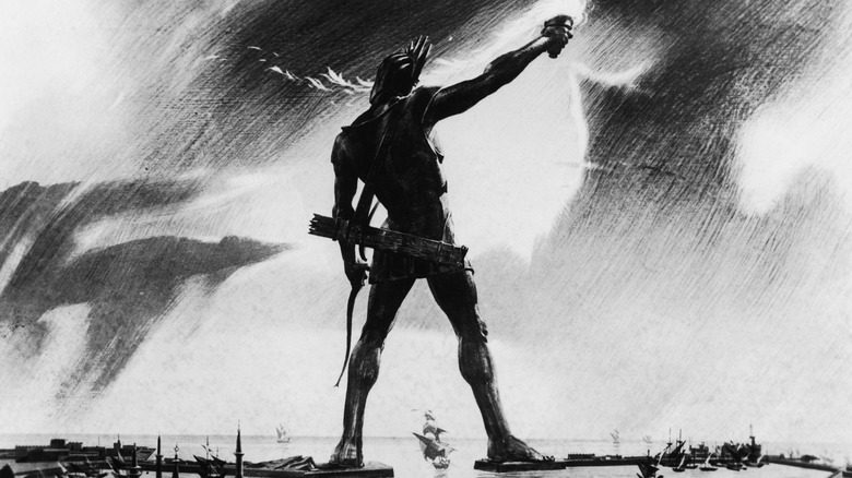 Illustration the Colossus of Rhodes