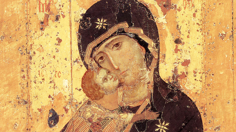 Eastern icon of the Madonna and the Child