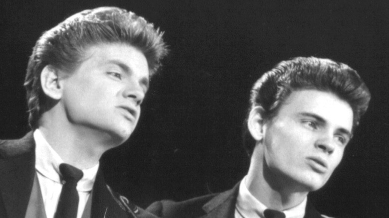 The Everly Brothers performing together